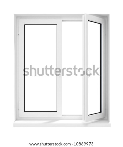 New Opened Plastic Glass Window Frame Stock Illustration 10869973 ...