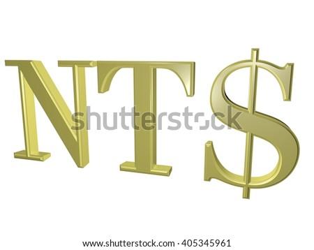 New Taiwan Dollar Sign Isolated On Stock Illustration 405345961