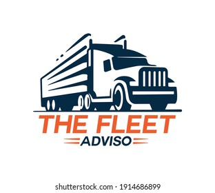 new truck logo design template.