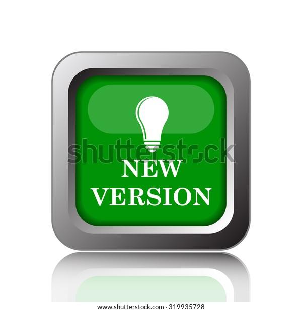 New version icon. Internet button on white background.