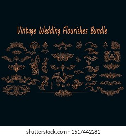 New Vintage Wedding Flourishes Bundle