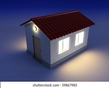 Éclairage Extérieur Maison Éclairage extérieur maison stock illustrations, images & vectors