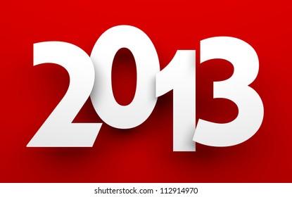 New Year 2013 card