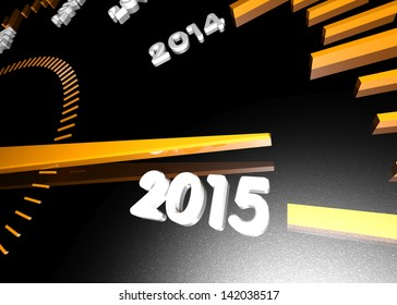 New Year 2015. Will be soon. Clock close up.