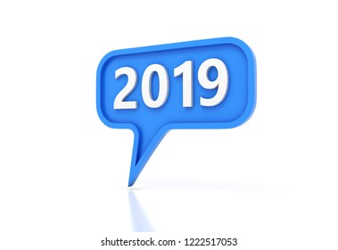 New Year 2019 Creative Design Concept - 3D Rendered Image