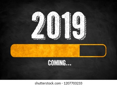 New Year 2019 loading status