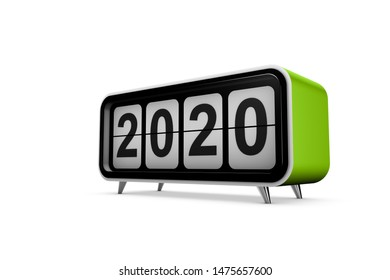 New year 2020 concept in 3d