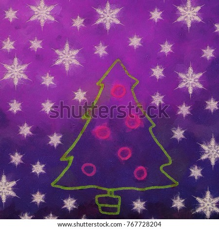 new year or christmas concept abstract texture background rich color splash and snowflakes creativity