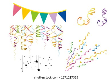 New Year decor elements on  white background. Concept of holidays.illustration