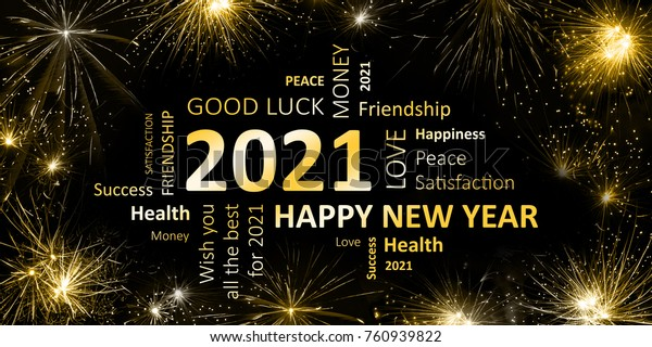 New Year Greeting Card 2021 Stock Illustration 760939822