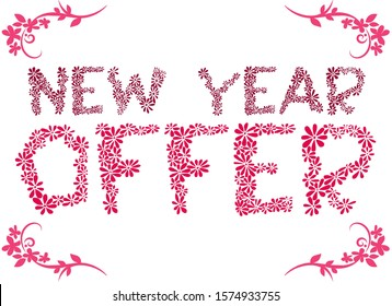 new year offer Design on White Background