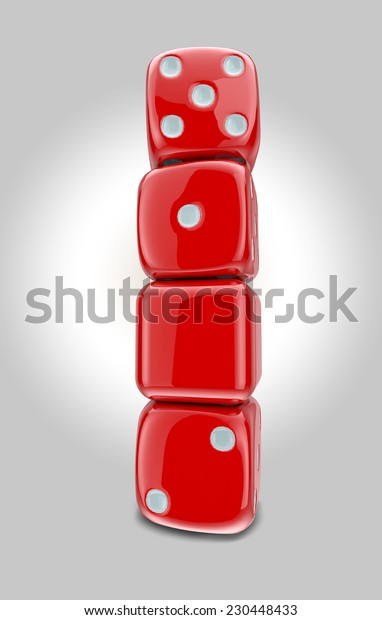 New Year Red Dice