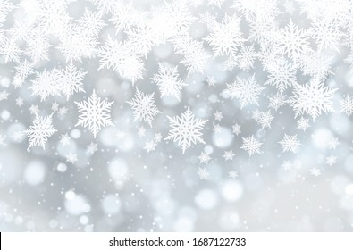 New Year theme. snowflakes of different shapes and sizes. Christmas balls. congratulatory inscription. fluffy snow. snowdrifts. winter cold. holiday, christmas holidays.