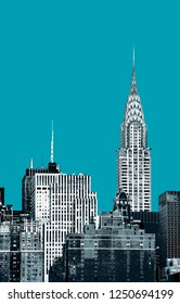 New York City. Contemporary art and poster style