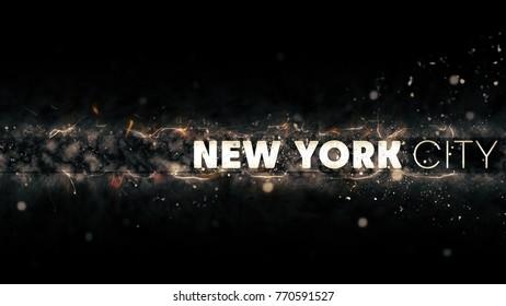 New York City Logo - Creative Illustration - Sparks at Night