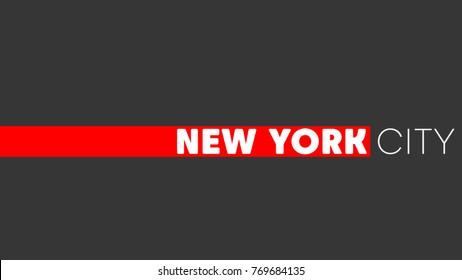 New York City - Logo - Night