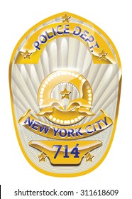 New York city Police Badge.