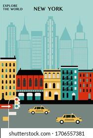 New York city travel illustration