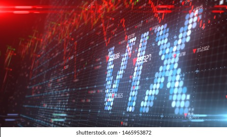 NEW YORK, USA - JULY 2019: VIX Volatility Index is a measure of the stock market's expectation of volatility - 3D illustration rendering