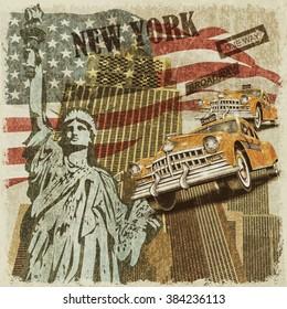 New York vintage poster.