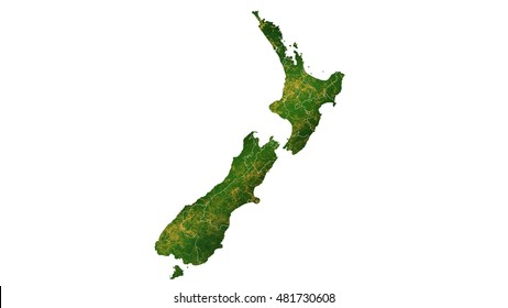 new Zealand detailed country map visualization