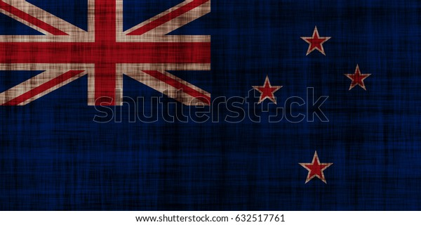 New Zealand flag grunge background. Background for design in country flag