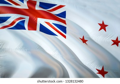 New Zealand Naval ensign flag. 3D Waving flag design. The national symbol of New Zealand Naval ensign, 3D rendering. New Zealand Naval ensign 3D Waving sign design. Waving sign background wallpaper