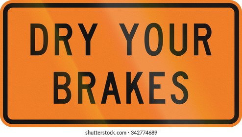 New Zealand road sign - Dry your brakes.