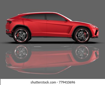 Similar images stock photos vectors of sports car blueprint the newest sports all wheel drive red premium crossover in a gray studio with a malvernweather Images