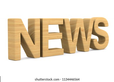news on white background. Isolated 3D illustration