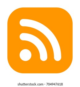 Newsfeed or RSS Illustration. RSS (Rich Site Summary) is a format for delivering regularly changing web content.