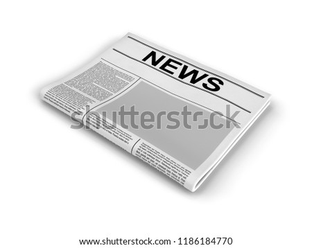 Newspaper On White Background Blank Newspaper Stock Illustration