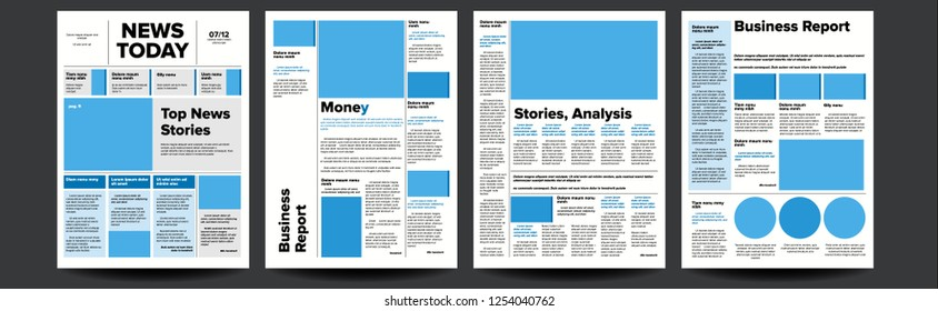 Newspaper. With Text Article Column Design. Technology And Business News Article. Press Layout. Illustration
