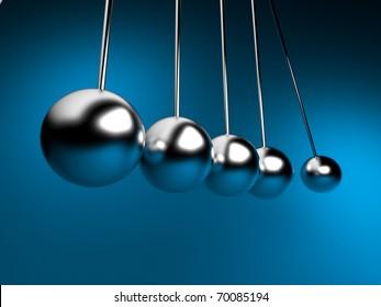 Newton Cradle 3d Balancing. Pendel
