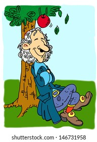 Newton and the falling apple
