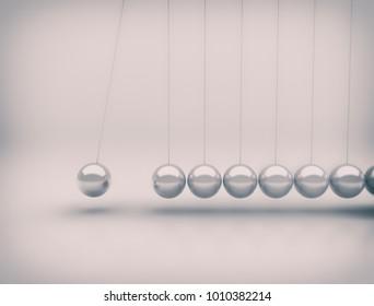Newton's cradle metal balls