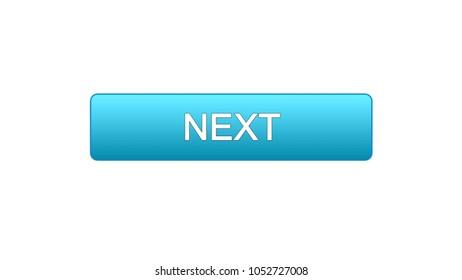 Next web interface button blue color, internet site design, online program