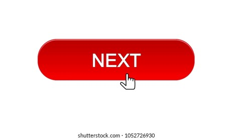 Next web interface button clicked with mouse cursor, red color, online program