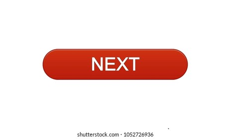 Next web interface button wine red color, internet site design, online program