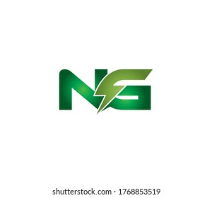 NG Alphabet Electric Logo Design Concept