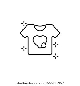 NGO t-shirt heart drop icon. Element of no government organisation icon
