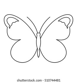 Nice butterfly icon. Outline illustration of nice butterfly  icon for web