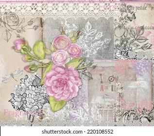 schöner feminininer Collage-Hintergrund