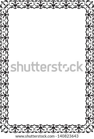 Nice Frame Isolated On White Stock Illustration 140823643 - Shutterstock