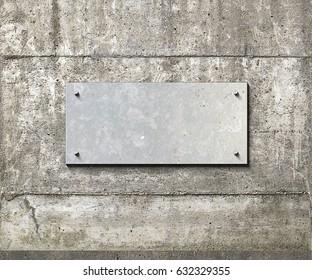 Nice shiny metal plane on a concrete background 3d illustration