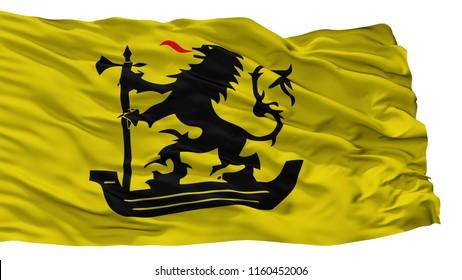 Nieuwpoort City Flag, Country Belgium, Isolated On White Background