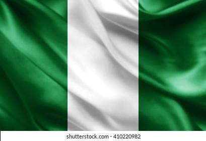 Nigeria flag of silk