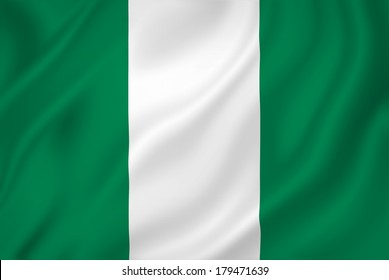 Nigeria national flag background texture.