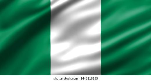 Nigeria national flag waving design