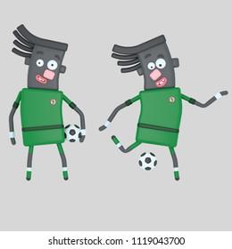 Nigeria soccer player. 3d illustration